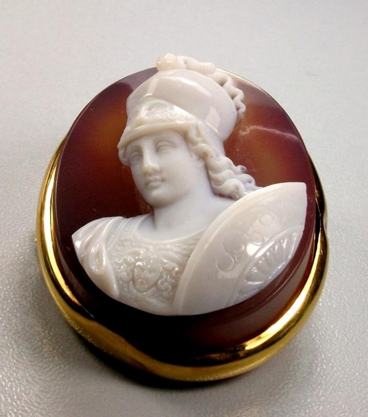 Hard Stone Cameo of Goddess Athena