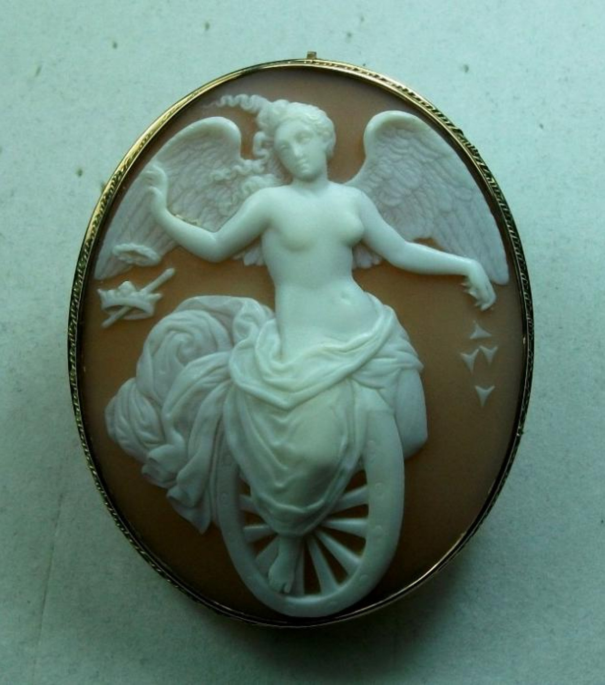 Museum Quality Cameo of Goddess Fortuna