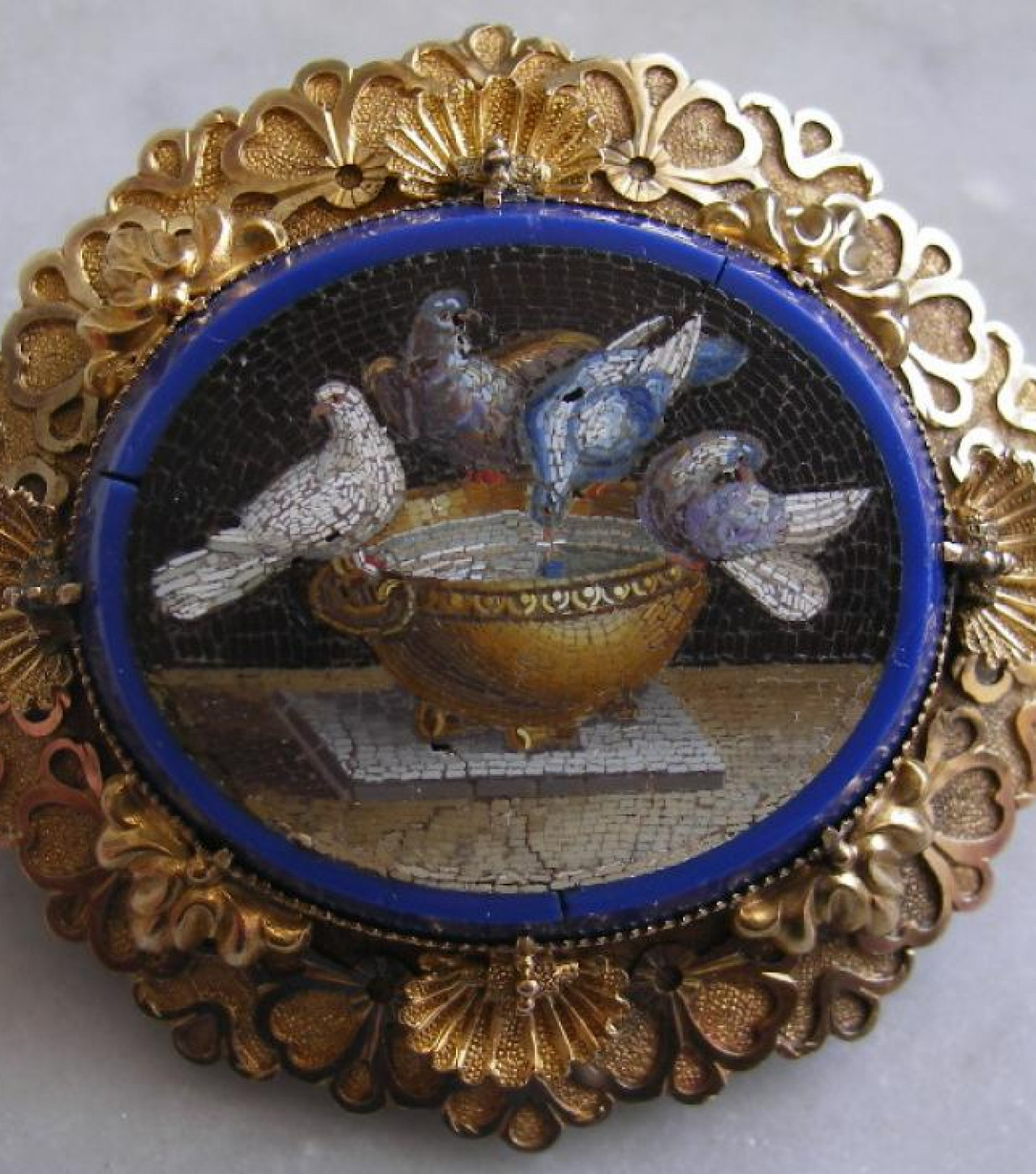 Micro Mosaic of The Doves of Pliny 1834