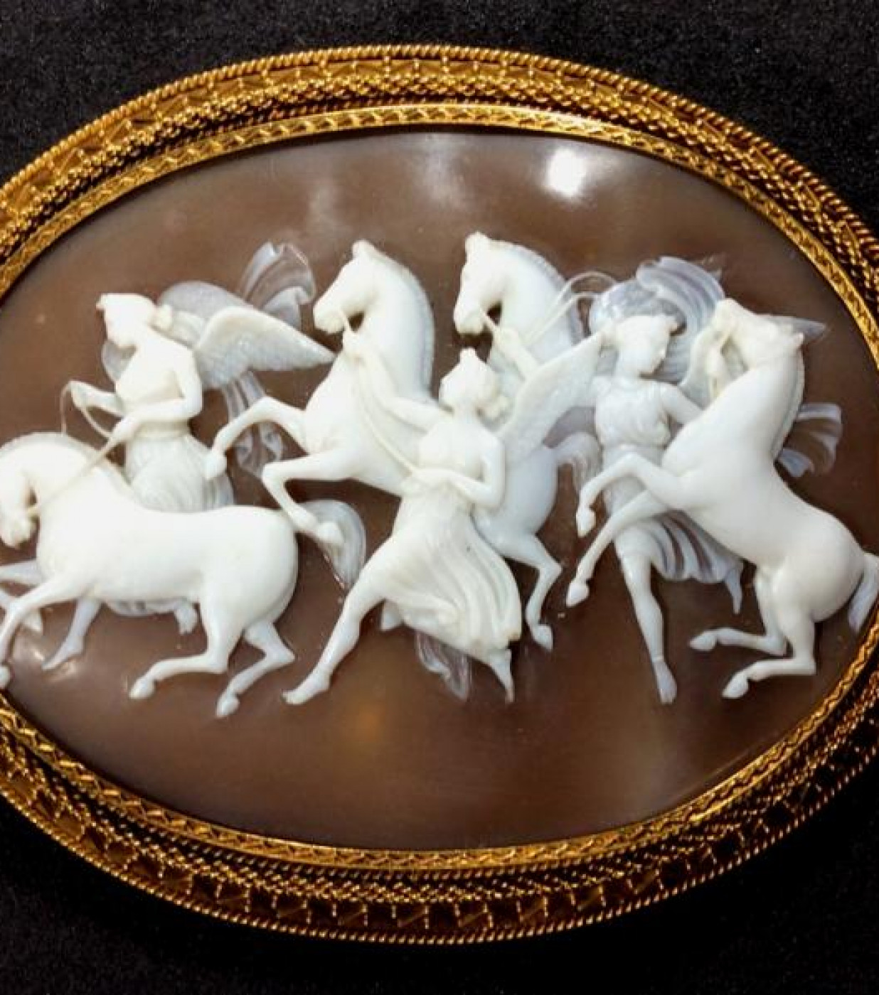 Cameo of  the Hours Leading the Horses of the Sun