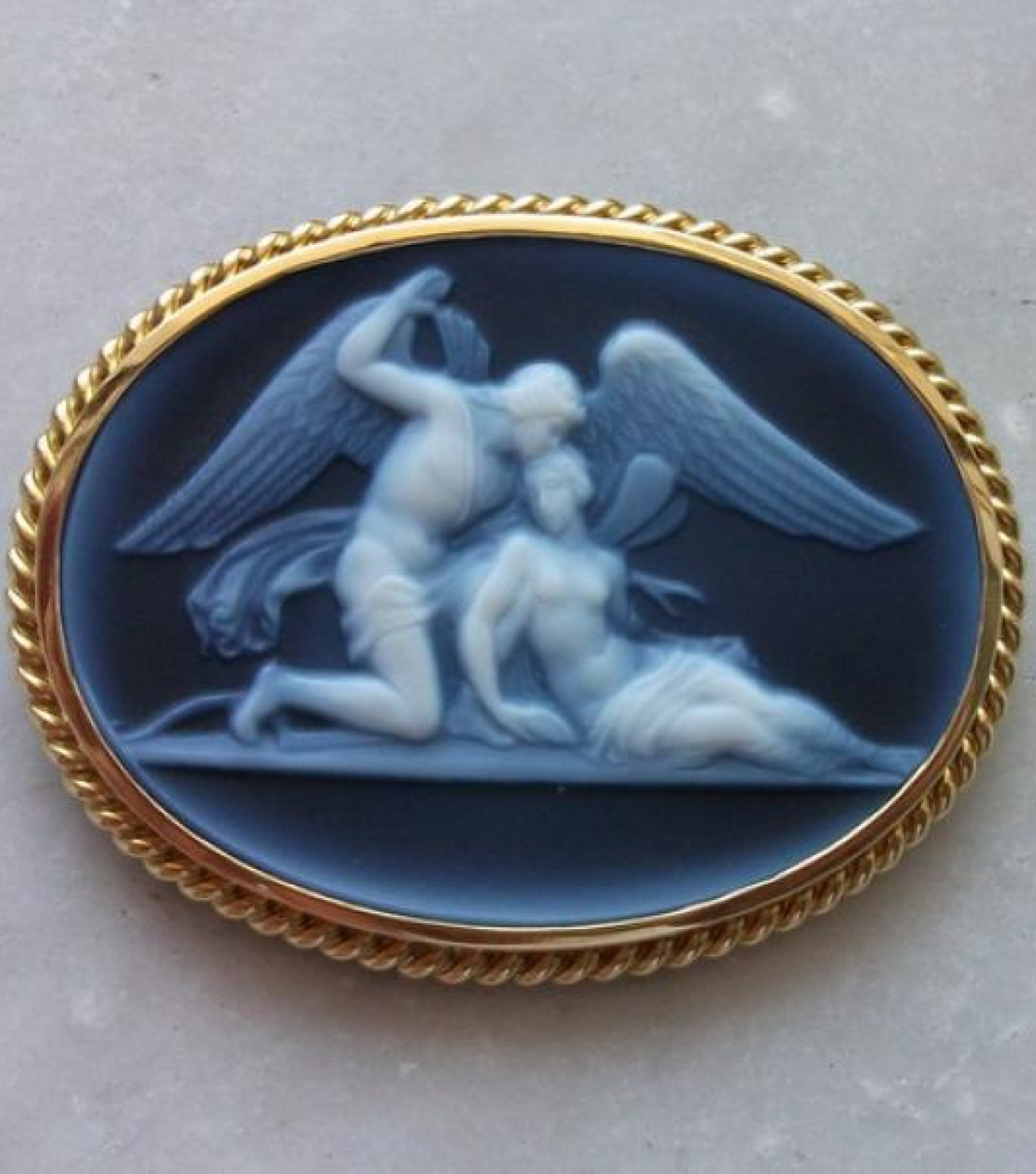 Cupid and Psyche after Thorvaldsen
