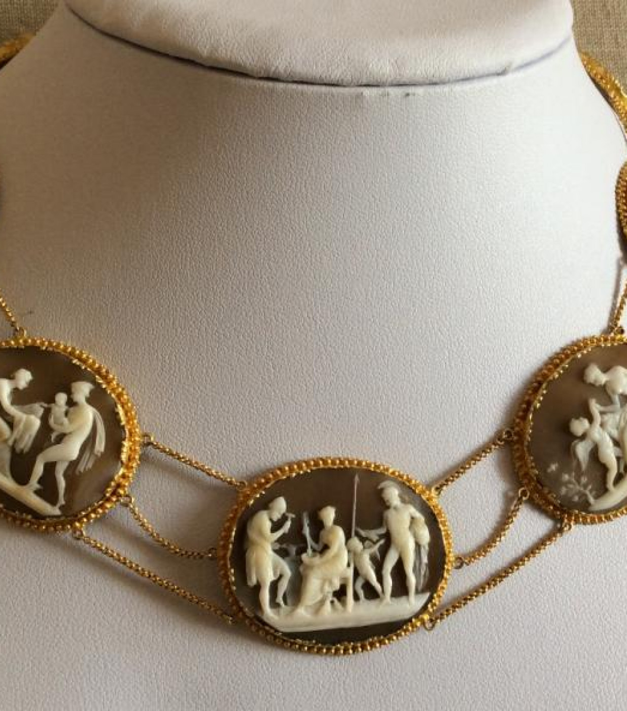 Rarest Museum Quality Cameos Set Necklace and Bracelet