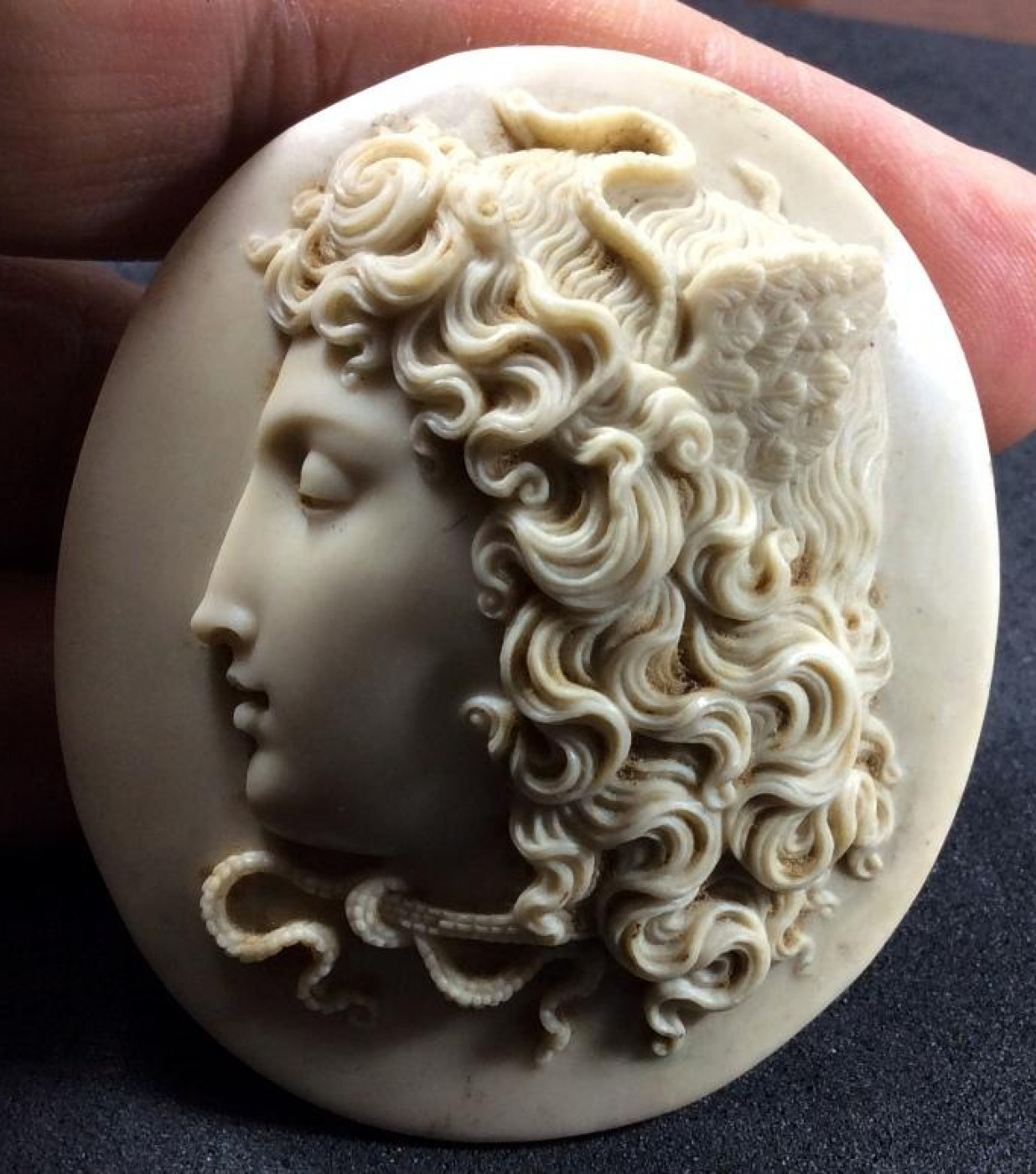 Wonderful Lava Cameo of   Medusa