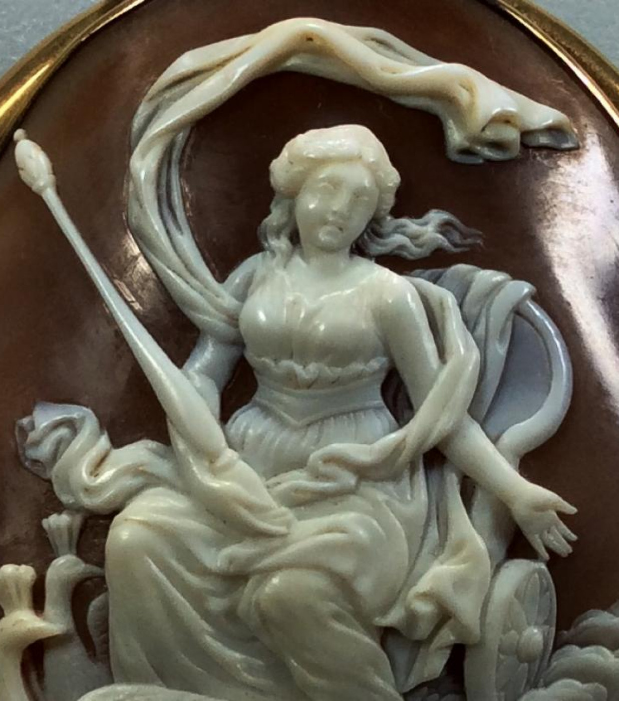 Cameo of Hera on her Chariot Pulled