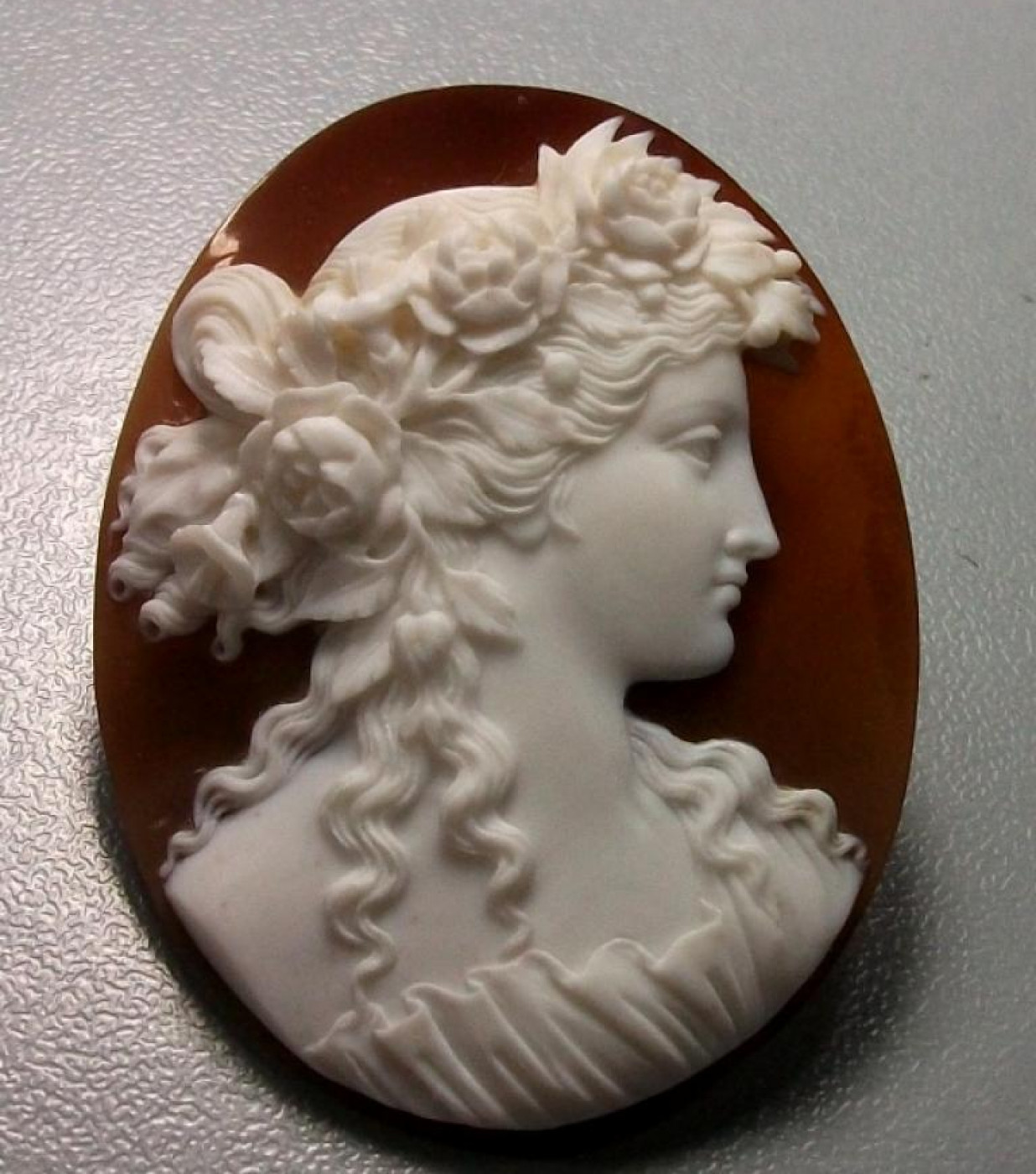 Fantastic  Pair of Cameos - Flora and Bacchante