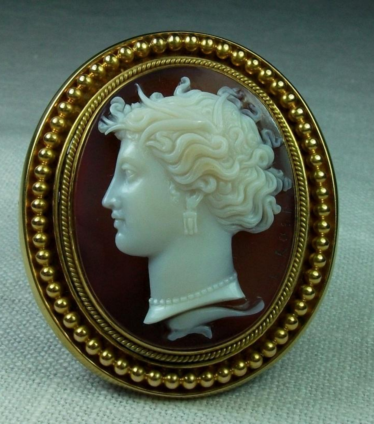 Museum Quality Cameo Of Arethusa by Luigi Rosi