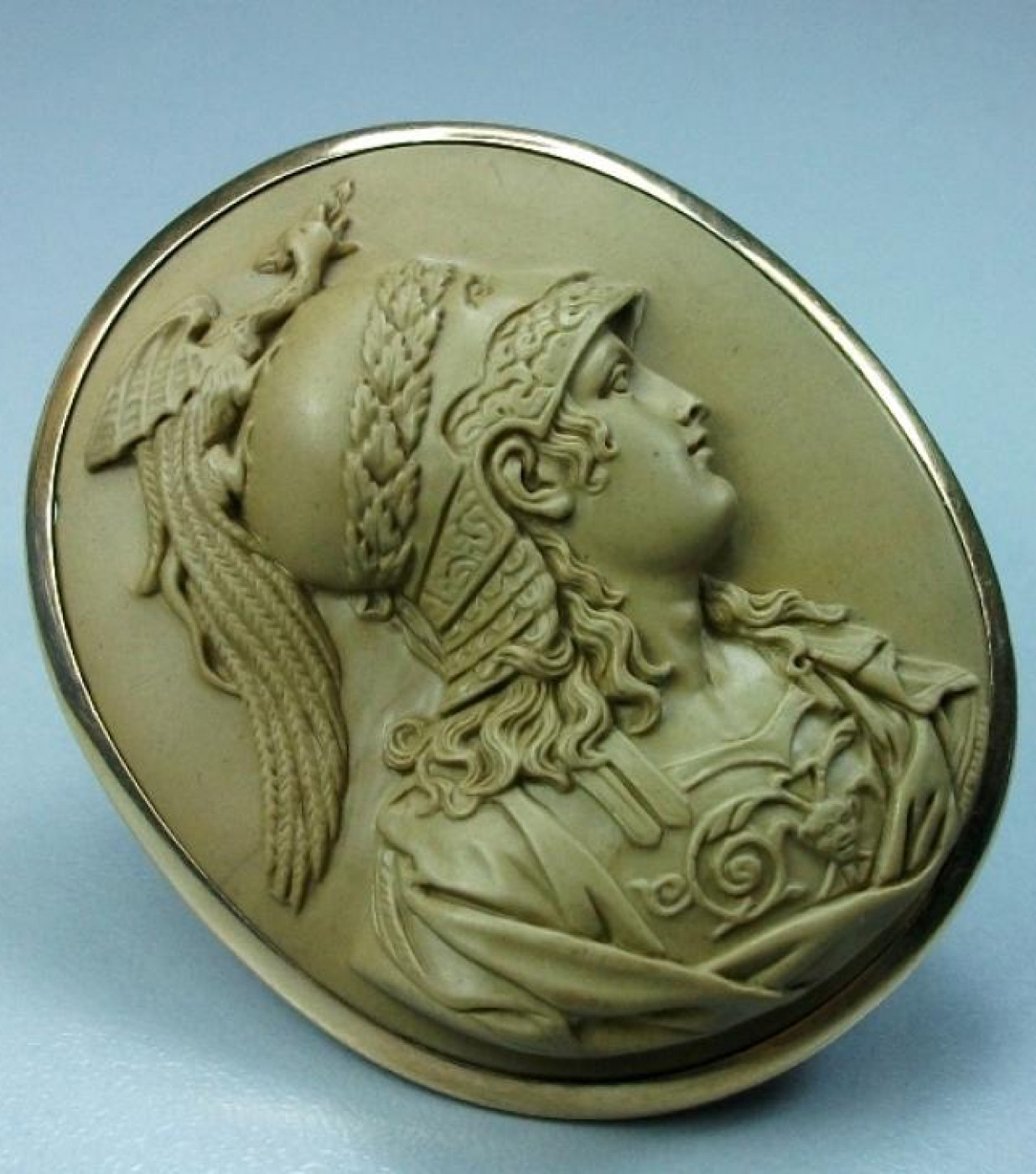 Rarest  Lava Cameo of Goddess Athena